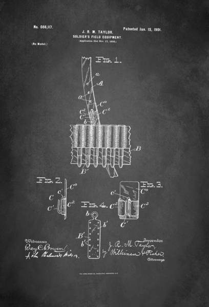 Soldier's Field Equipment Patent 1901 Art Print