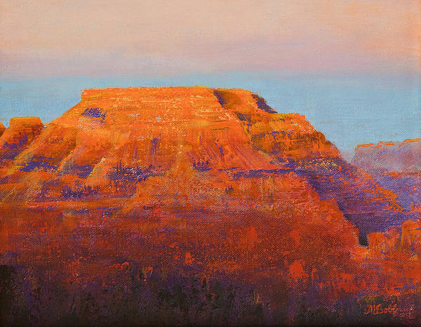 Grand Mesa Painting - South Rim Sunset by Margaret Bobb