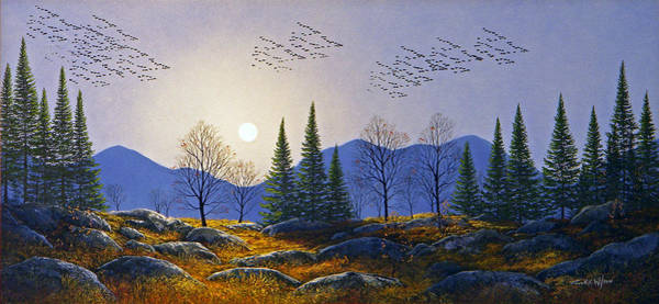 Wall Art - Painting - Southern Migration By Moonlight by Frank Wilson