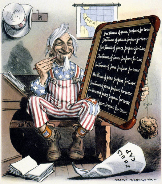 Uncle Sam Painting - Spanish-american War, 1898 by Granger