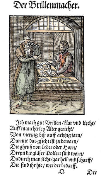 Glass Cutting Painting - Spectacle Maker, 1568 by Granger