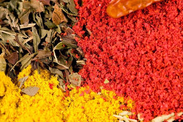 Saffron Digital Art - Spices by Modern Abstract