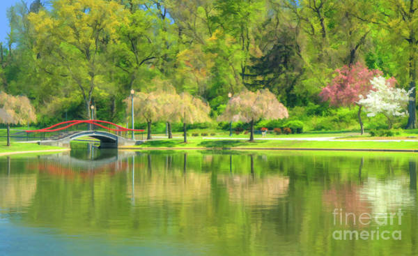Springtime Reflections Art Print