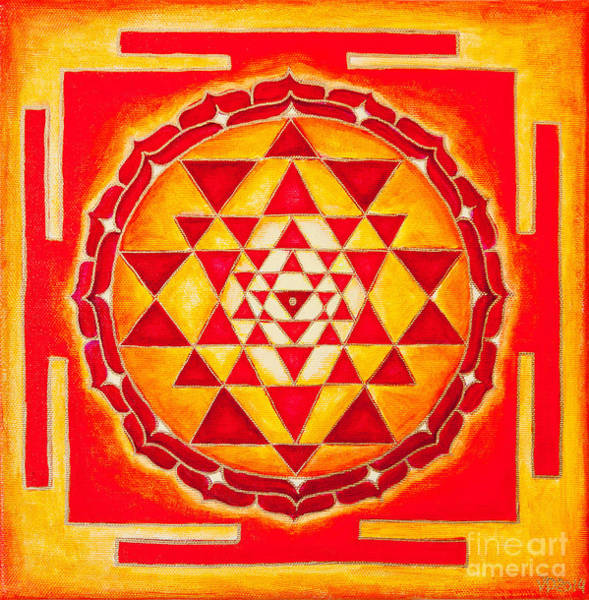 Wall Art - Photograph - Sri Yantra For Meditation Painted by Raimond Klavins