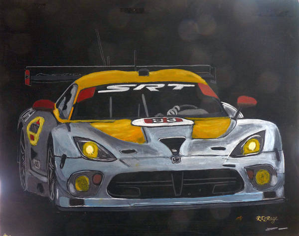 Painting - Srt Dodge Viper Gts-r by Richard Le Page