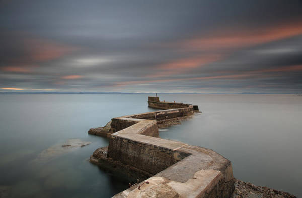 Photograph - St Monans Pier At Sunset by Maria Gaellman
