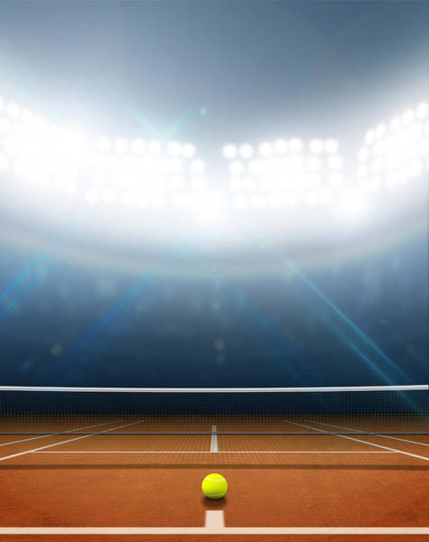 Clay Digital Art - Stadium And Tennis Court by Allan Swart