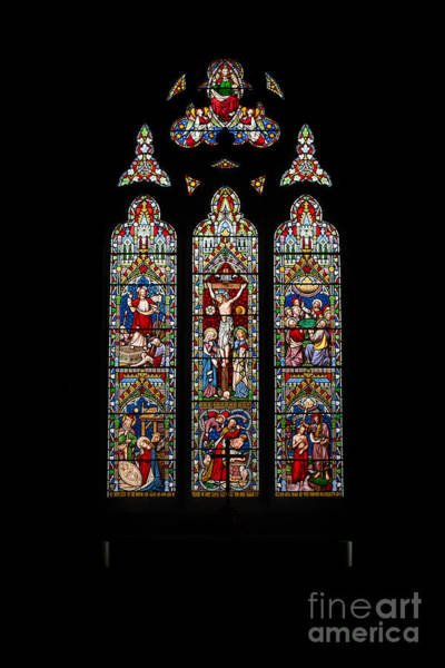Holy Trinity Photograph - Stained Glass by Adrian Evans