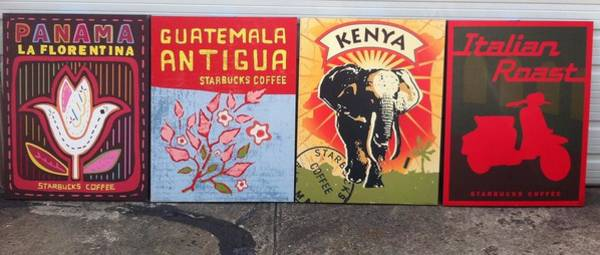 Kenya Mixed Media - Starbucks Print Art by Martina Spisakova