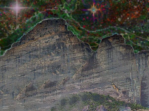 Digital Art - Starry Mountain by Augusta Stylianou