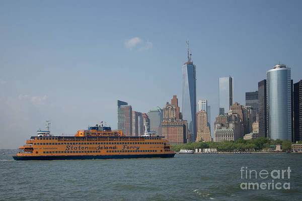 Wall Art - Digital Art - Staten Island Ferry by Carol Ailles