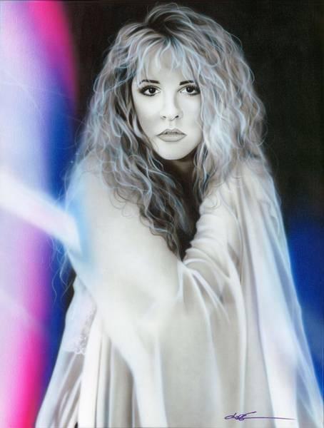 Rhythm Painting - Stevie Nicks by Christian Chapman Art