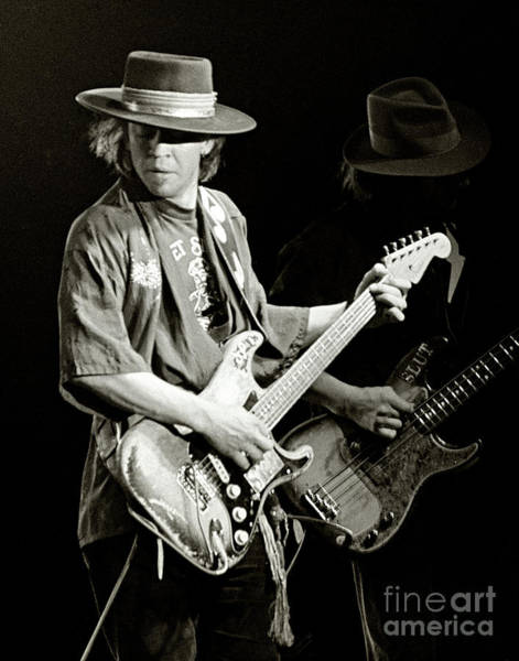 Roll Photograph - Stevie Ray Vaughan 1984 by Chuck Spang