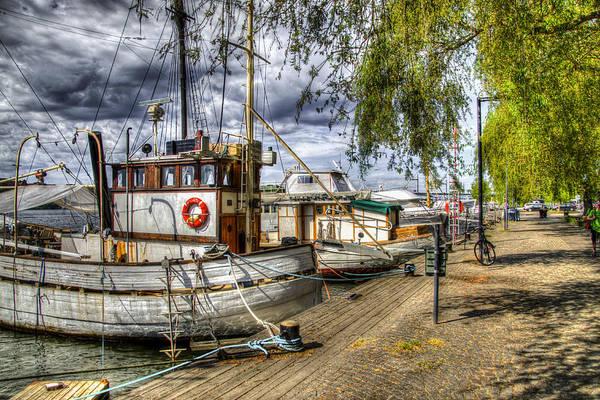 Tug Boat Photograph - Stockholm Harbor    Sweden by Jon Berghoff