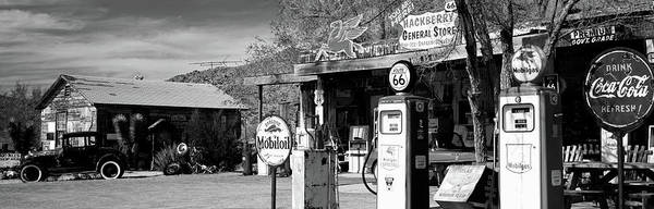Wall Art - Photograph - Store With A Gas Station by Panoramic Images