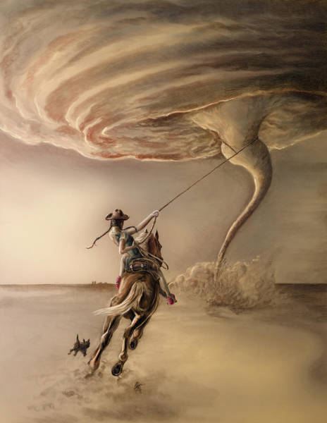 Wall Art - Painting - Stormchaser by MGL Meiklejohn Graphics Licensing