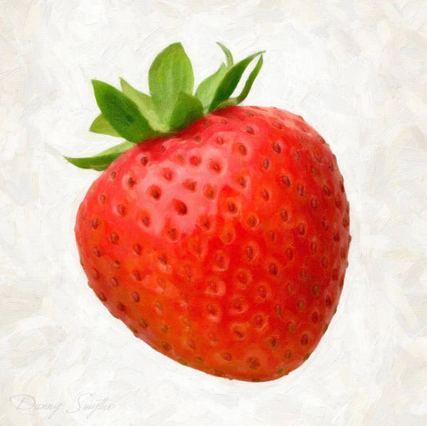 Wall Art - Painting - Strawberry  by Danny Smythe