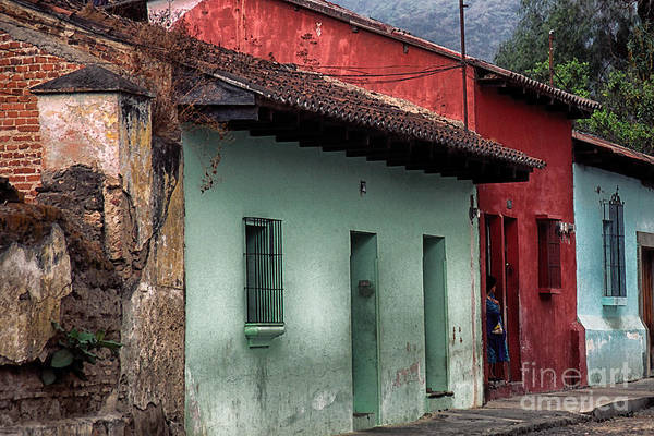 Photograph - Street Scene La Antigua by Thomas R Fletcher