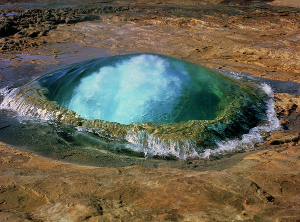 Wall Art - Photograph - Strokkur Geyser In Iceland by Simon Fraser/science Photo Library