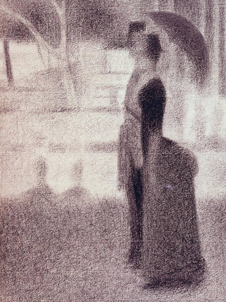 Shadows Drawing - Study For Sunday Afternoon On The Island Of La Grande Jatte by Georges Pierre Seurat