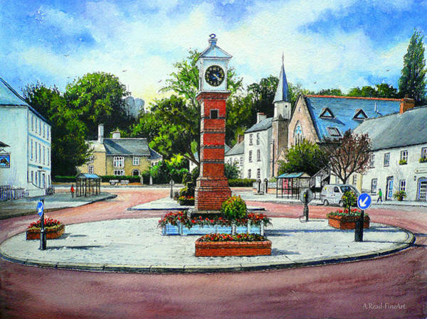 Terracotta Painting - Summer In The Square by Andrew Read