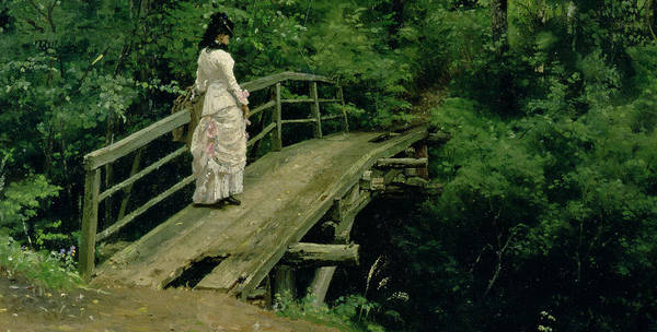 Paysage Wall Art - Painting - Summer Landscape by Ilya Efimovich Repin