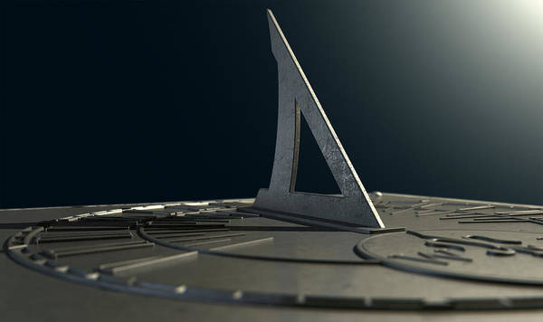 Ancient Architecture Digital Art - Sundial Lost In Time by Allan Swart