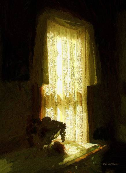 Painting - Sunlight Through Lace by RC DeWinter