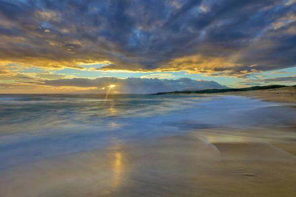 Wall Art - Photograph - Sunrise Above Kawaaloa Bay On Molokais by Richard A Cooke Iii.