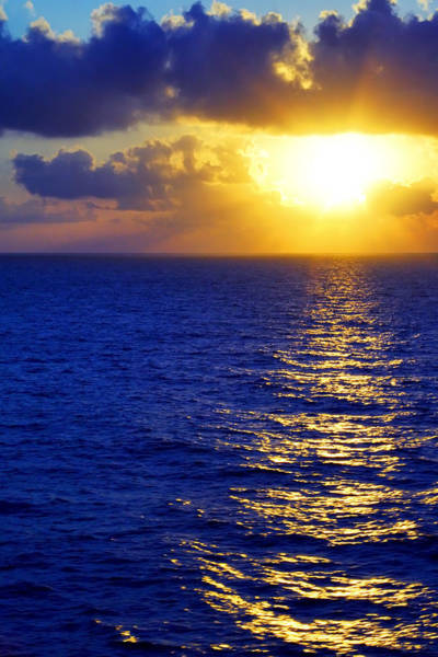 Photograph - Sunrise At Sea by Jason Politte