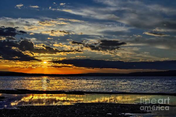 Evening Wall Art - Photograph - Sunset At The Waskesiu Lake by Viktor Birkus
