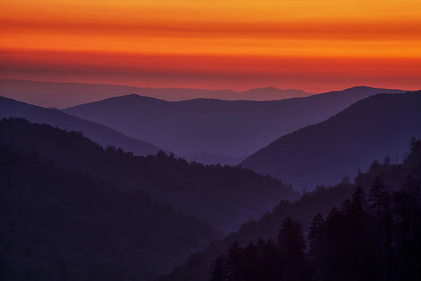 Wall Art - Photograph - Sunset In The Smokies by Andrew Soundarajan