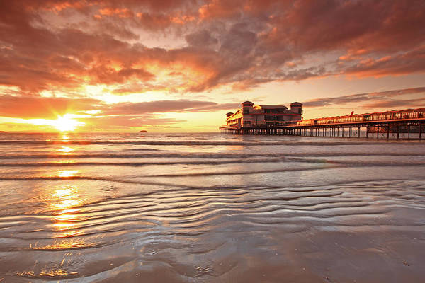 Weston Photograph - Sunset Over Weston Super-mare Pier by Ollie Taylor