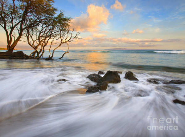 Maui Sunset Wall Art - Photograph - Sunset Tides by Mike  Dawson