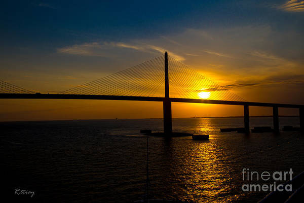I-75 Photograph - Sunshine Skyway Bridge by Rene Triay Photography