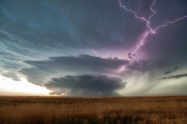 Discharge Photograph - Supercell Thunderstorm by Roger Hill