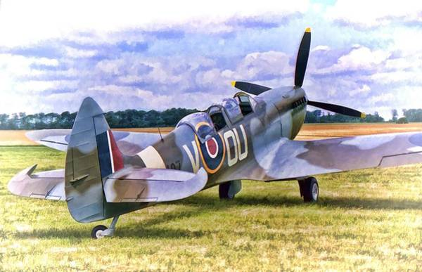 Photograph - Supermarine Spitfire T9 by Paul Gulliver