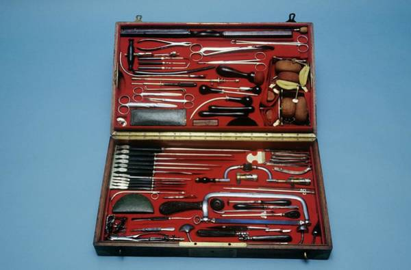 Battle Field Photograph - Surgeon's Instruments by Science Photo Library