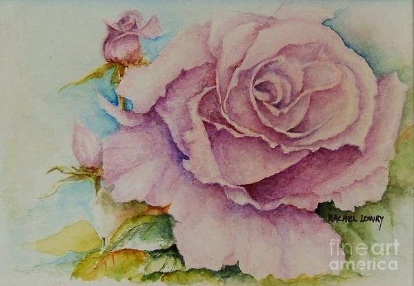 Painting - Susan's Rose by Rachel Lowry