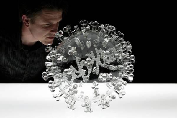 Swine Flu Virus Art Print by Luke Jerram/science Photo Library