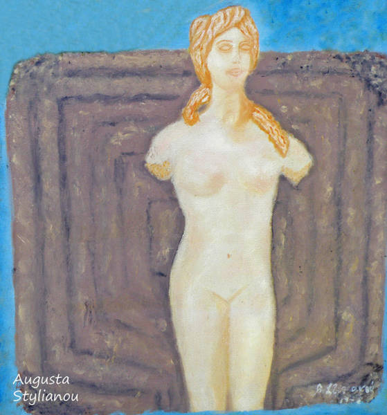 Painting - Symbol Of Fertility And Goddess Aphrodite by Augusta Stylianou