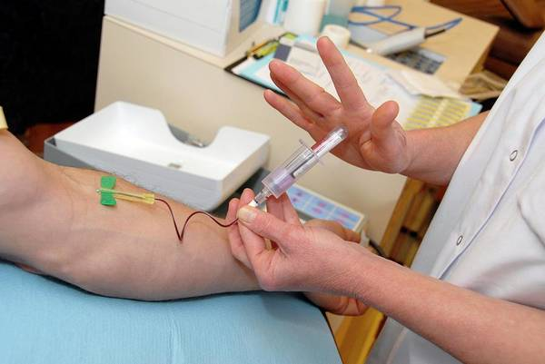 Wall Art - Photograph - Taking A Blood Sample by Aj Photo/science Photo Library