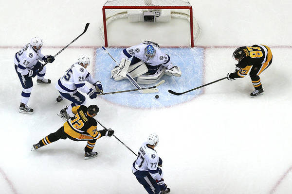 Nhl Players Photograph - Tampa Bay Lightning V Pittsburgh by Bruce Bennett