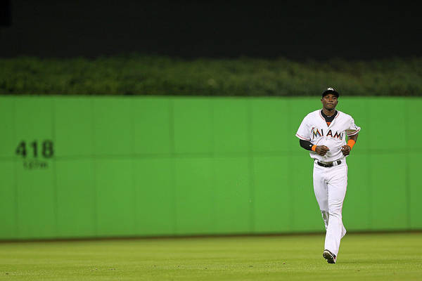 Miami Marlins Photograph - Tampa Bay Rays V Miami Marlins by Mike Ehrmann