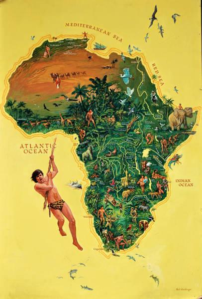 Painting - Tarzan Poster by Mel Greifinger