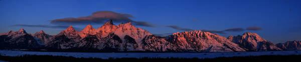 Photograph - Teton Range With Alpenglow by Raymond Salani III