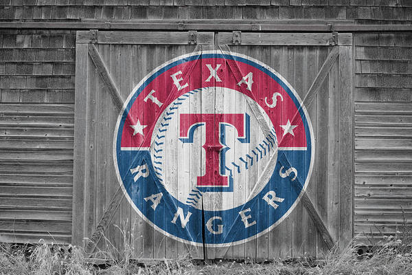 Outfield Wall Art - Photograph - Texas Rangers by Joe Hamilton