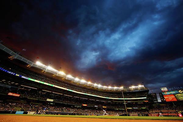 Texas Rangers V New York Yankees Art Print by Al Bello