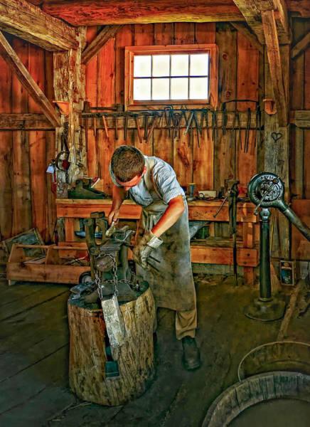 Blacksmith Photograph - The Apprentice 2 by Steve Harrington