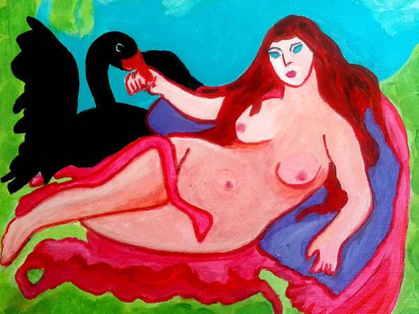 Painting - The Black Swan by Nikki Dalton